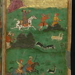 Illuminated Manuscript, Collection of poems (masnavi), A hunting scene, Walters Art Museum Ms. W.626, fol. 213b