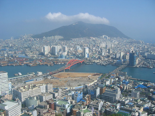 Bird's eye view over Busan by CC user globalismpictures on Flickr