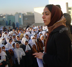 Malalai Joya addresses Afghan schoolgirls