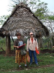 DSC02890 Gregoria and Lilian preparing one of their health surveys in Okawas