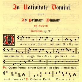 Partiture gregoriane