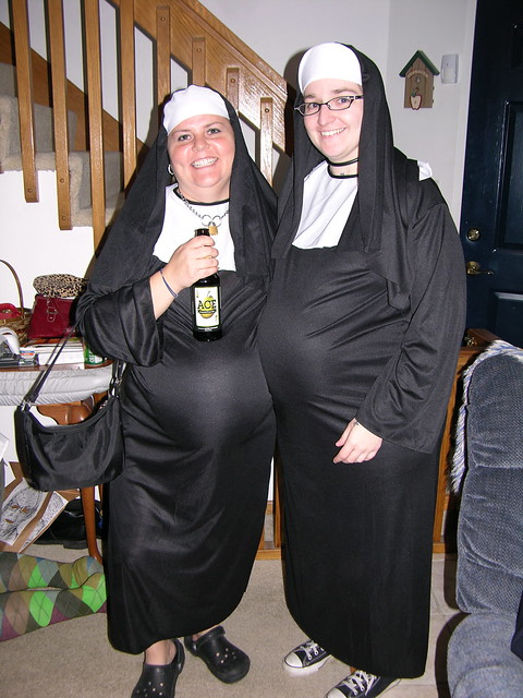 Pair of Pregnant Nuns