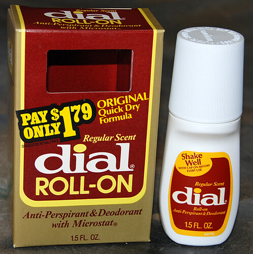 Dial Roll-on Deodorant, 1980's