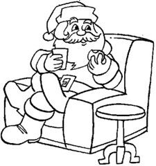 Pin coloriage lutin qui dort on pinterest - Coloriage papa noel ...