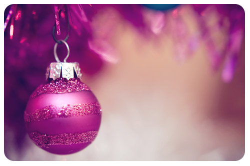 tiny pink ornament