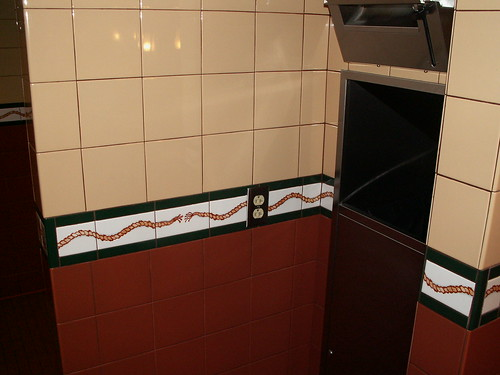 Pioneer Hall Restrooms - Wall Tile Detail - rope pattern
