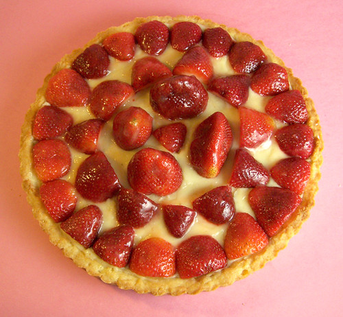 Lemon Glazed Strawberry Tart with Pastry Cream