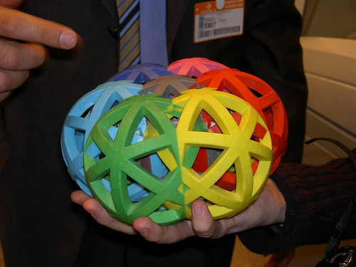 interlocking spheres printed with a 3D printer