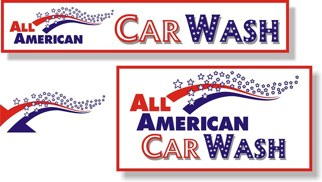 all american car wash logo flickr photo sharing. Black Bedroom Furniture Sets. Home Design Ideas