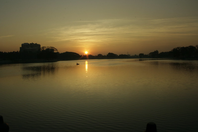 Image result for images of sun rise at any lake in bengaluru