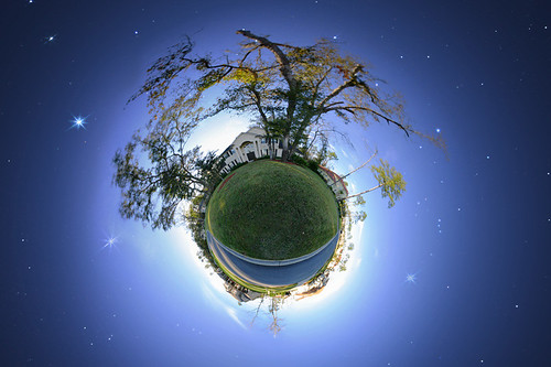 Tiny Planet with Star Field