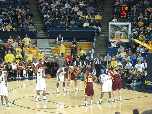 Preparing for a foul shot