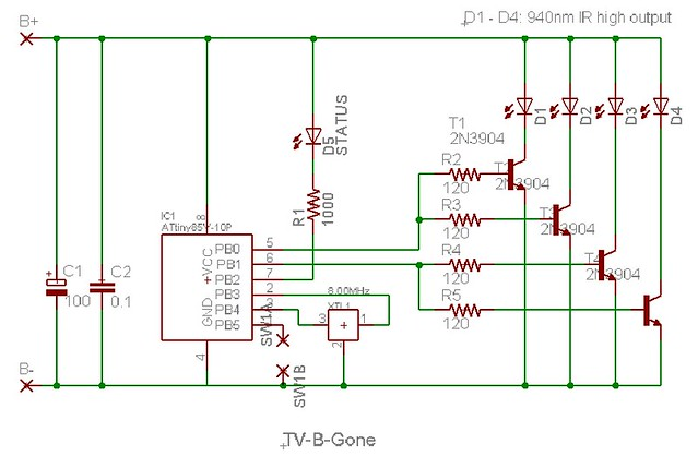 opel vectra b circuit diagram tv-b-gone schematic | flickr - photo sharing!