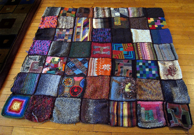 Quilt Patterns To Knit : knitted quilt Flickr - Photo Sharing!