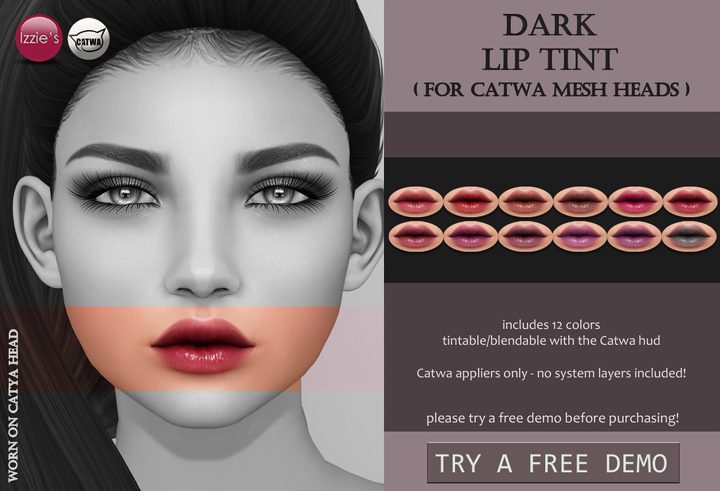 Dark Lip Tint (Catwa) for FLF - SecondLifeHub.com