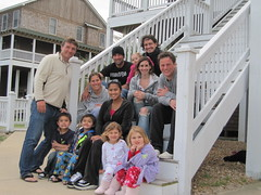Bella Porter learned to walk in Cape Hatteras NC with lots of little friends while Emme Porter was kite surfing