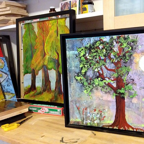 In the studio trying to decide on the right frames .....or not!