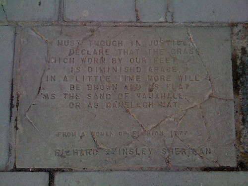 Pavement poetry, South Bank: A Woman of Fashion 1777 - Richard Brinsley Sheridan