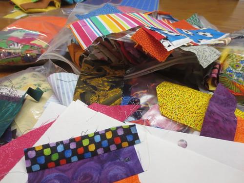 Scraps now, quilt blocks soon