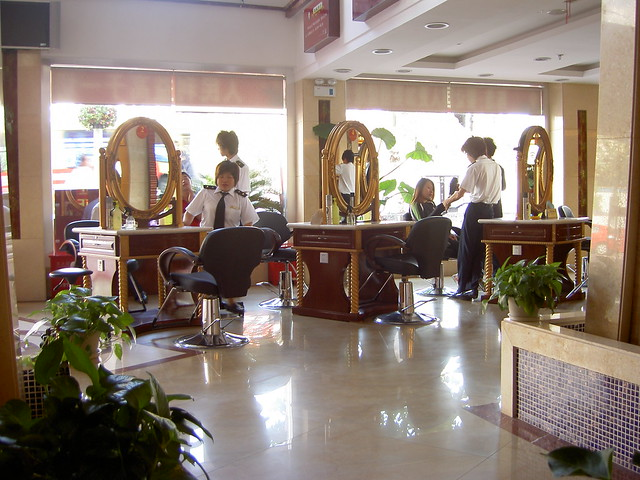 A fancy hair salon flickr photo sharing for A b beauty salon houston