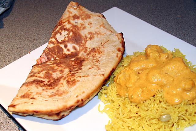 Chicken Korma, Rice and Nan bread from Suruchi Too, Edinbu ...