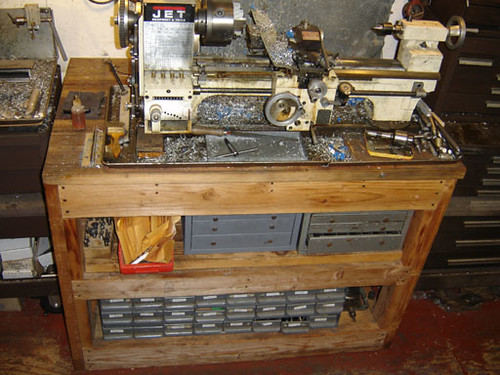 Prime 01020802 My Jet 920 Lathe On Home Made Wooden Bench Heavy Machost Co Dining Chair Design Ideas Machostcouk