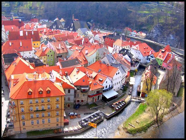 Český Krumlov like a bird...
