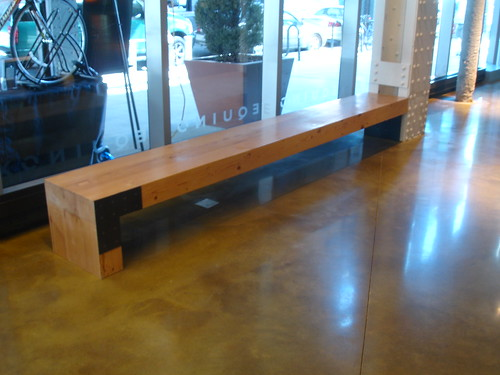 Recycled Douglas Fir bench