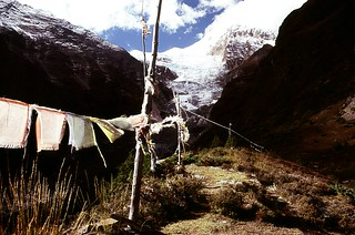 Prayer Flags and Glacier