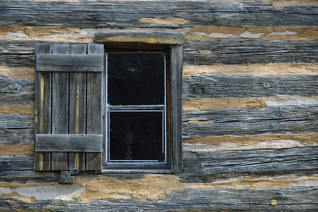 Window Detail Log Cabin Old Alabama Town Montgomery Al