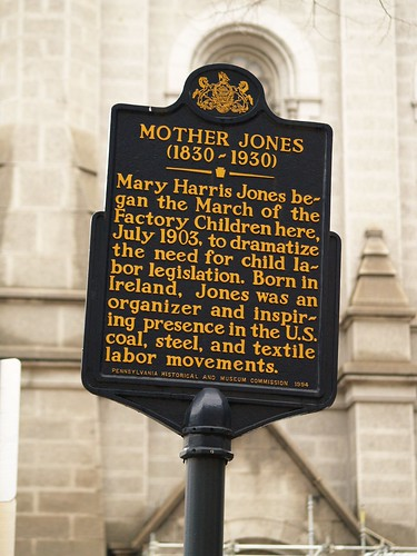 Mother Jones Marker At City Hall (Philadelphia, PA)