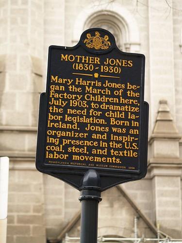 Mother Jones Marker At City Hall (Philadelphia, PA)