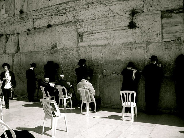 The Wailing Wall in Black and White