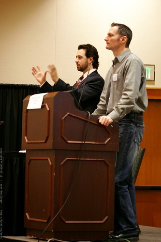 kent lewis and rand fishkin at sempdx searchfest 2008    MG 0121