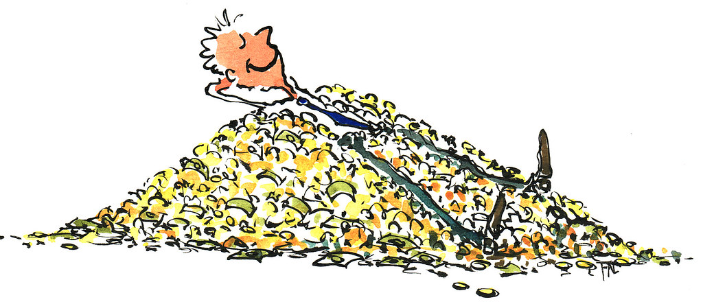 Money Heap illustration