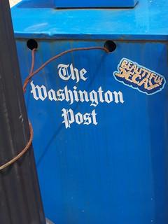 Washington Post newspaper rack, Beautiful decay