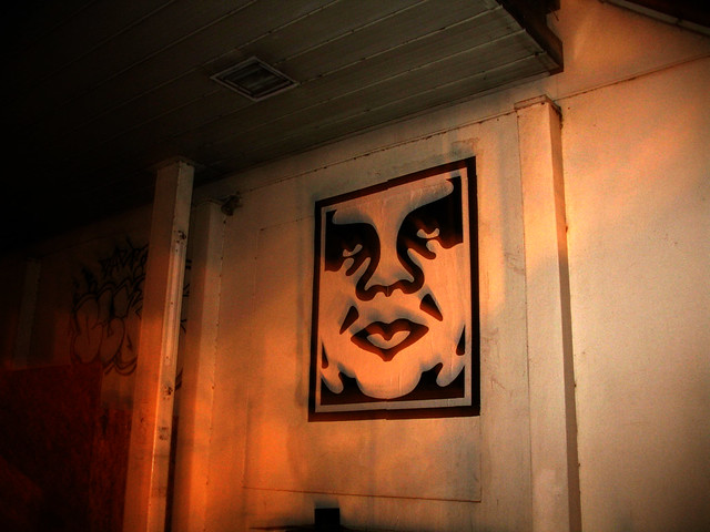Andre The Giant Stencil By Shepard Fairey, Captured In The Early Hours Of The Morning During An Insane Ramble Between Battersea And Camden
