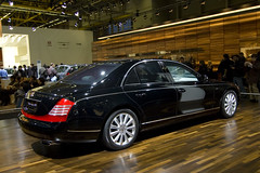 mercedes-benz w221(0.0), bentley continental flying spur(0.0), mercedes-benz s-class(0.0), automobile(1.0), wheel(1.0), vehicle(1.0), automotive design(1.0), maybach 62(1.0), auto show(1.0), maybach 57(1.0), sedan(1.0), land vehicle(1.0), luxury vehicle(1.0),