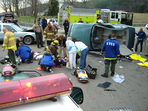 Emergency Operations At Car Accident