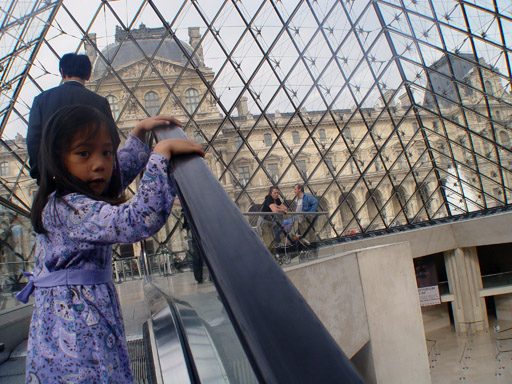 a on louvre escalator