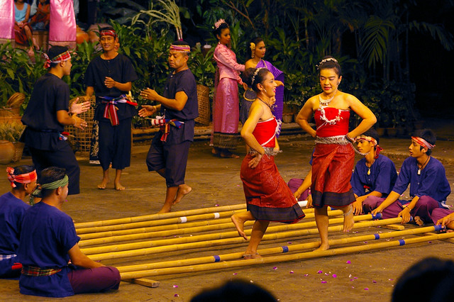 the bamboo dancers General introduction to chinese traditional land based activities including dancing among bamboo pole, skipping ropes and lion dance.