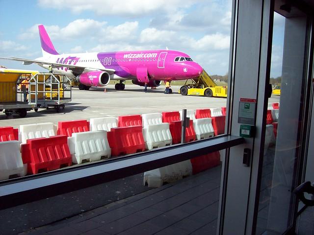 Wizzair budget flight to Katowice