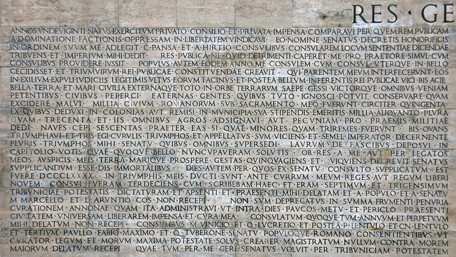 Res gestae flickr photo sharing - Res gestae divi augusti ...