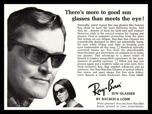 Ray-Ban 1960s sunglasses advert