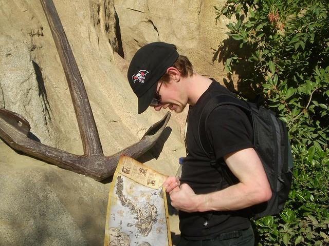 Phil finding treasure