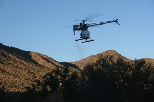 UAV in the hills