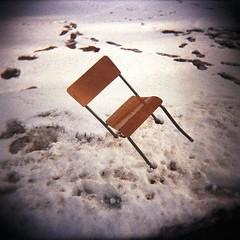 A tipped chair