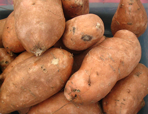 Sweet potatoes at the farmers' market