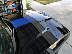 Dodge Challenger paint correction and HCC9 5yr Ceramic Coating installation