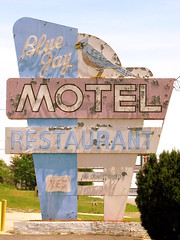 Blue Jay Motel neon sign
